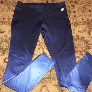Nike blue ombré spandex leggings M